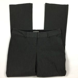 Express Gray Black Boot Pants Columnist 0 Short